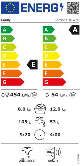 Etiquette Energie Haier HWD8436