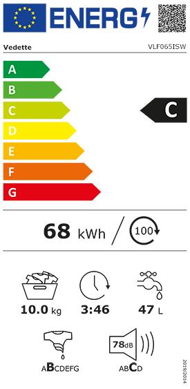 Etiquette Energie Vedette VLF065ISW
