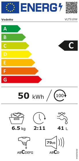 Etiquette Energie Vedette VLT510W