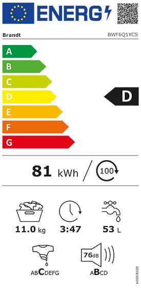 Etiquette Energie Brandt BWF6Q1YCS