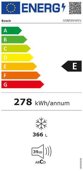 Etiquette Energie Bosch GSN58VWEV