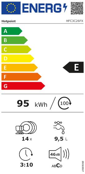 Etiquette Energie Hotpoint HFC3C26FX