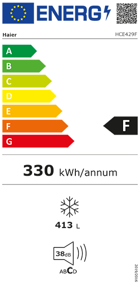 Etiquette Energie Haier HCE429F