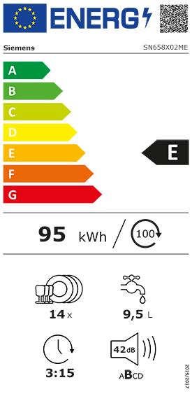Etiquette Energie Siemens SN658X02ME