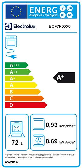 Etiquette Energie Electrolux EOF7P00X0
