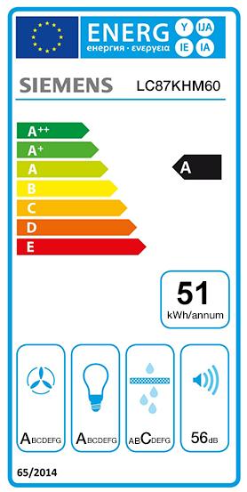 Etiquette Energie Siemens LC87KHM60