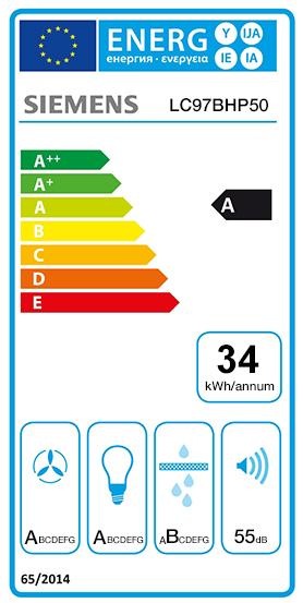 Etiquette Energie Siemens LC97BHP50