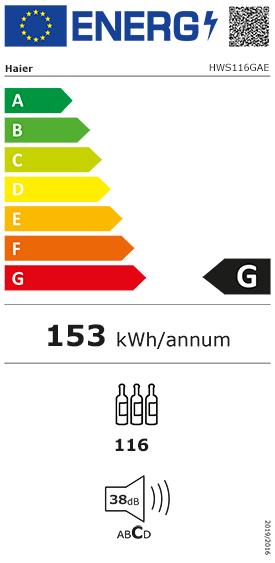 Etiquette Energie Haier HWS116GAE