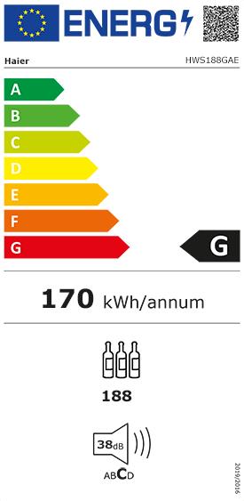 Etiquette Energie Haier HWS188GAE