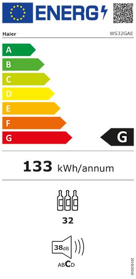 Etiquette Energie Haier WS32GAE