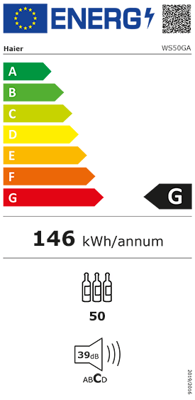 Etiquette Energie Haier WS50GA