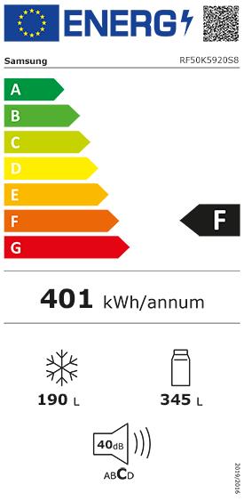 Etiquette Energie Samsung RF50K5920S8