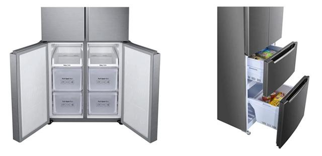 photo 2 types de porte congelateur frigo multi portes
