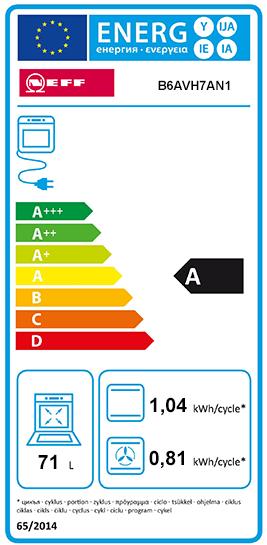 Etiquette Energie Neff B6AVH7AN1
