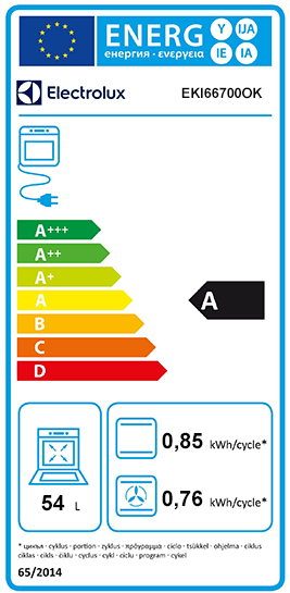 Etiquette Energie Electrolux EKI66700OK