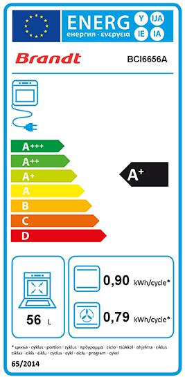 Etiquette Energie Brandt BCI6656A