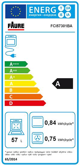 Etiquette Energie Faure FCI57301BA