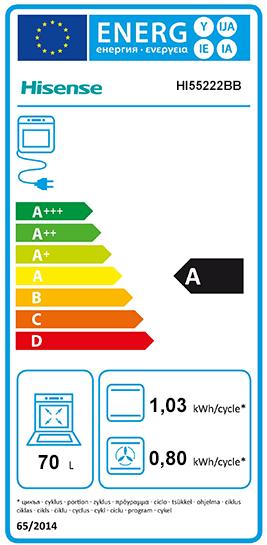Etiquette Energie Hisense HI55222BB