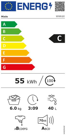 Etiquette Energie Miele WW610