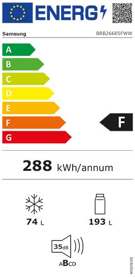 Etiquette Energie Samsung BRB26605FWW
