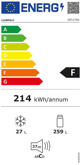 Etiquette Energie Liebherr IRF1784