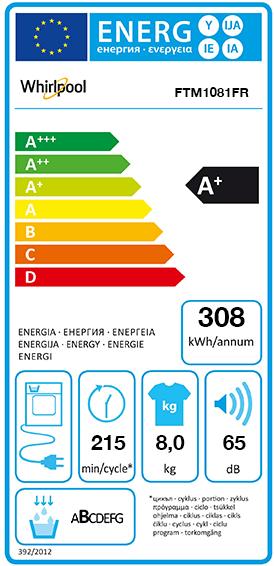 Etiquette Energie Whirlpool FTM1081FR