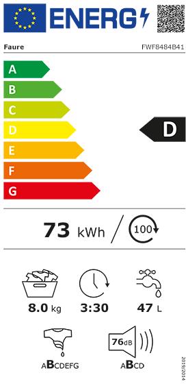 Etiquette Energie Faure FWF8484B41