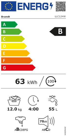 Etiquette Energie Brandt LLC124W