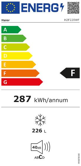 Etiquette Energie Haier H2F220WF