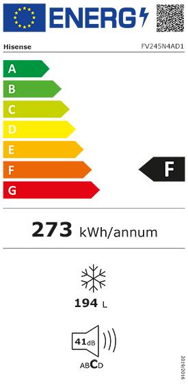 Etiquette Energie Hisense FV245N4AD1