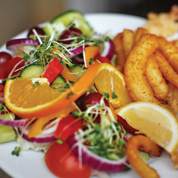 A meal from the menu of The Crown Inn, Sheringham
