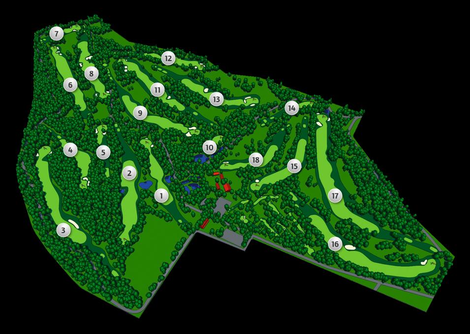 Golfplatz Karte GLC Bad Neuenahr