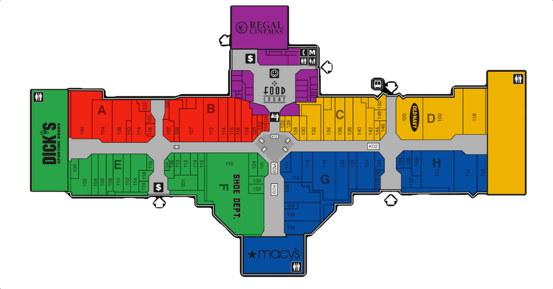 Great Norther Mall Map