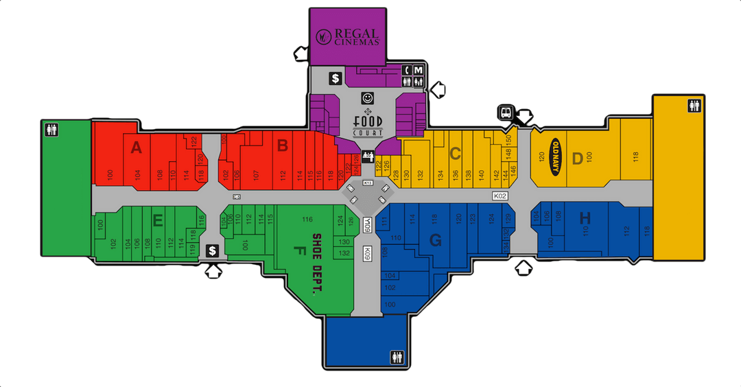 Great Northern Mall Map