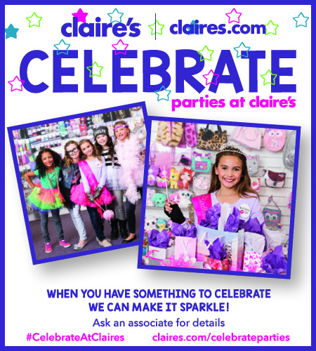 celebrate your birthday at claires