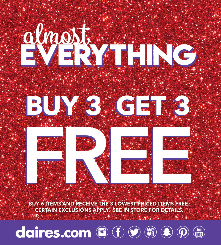 buy 3 get 3 free at claires
