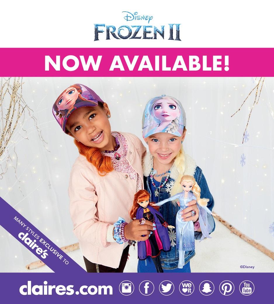 frozen II merchandise claire's