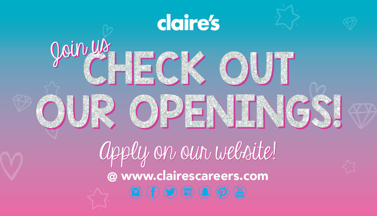 claire's nationwide hiring event