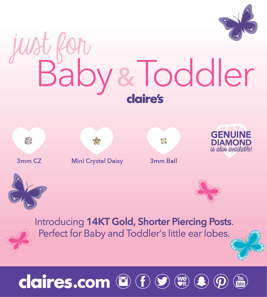Baby & toddler earring options poster