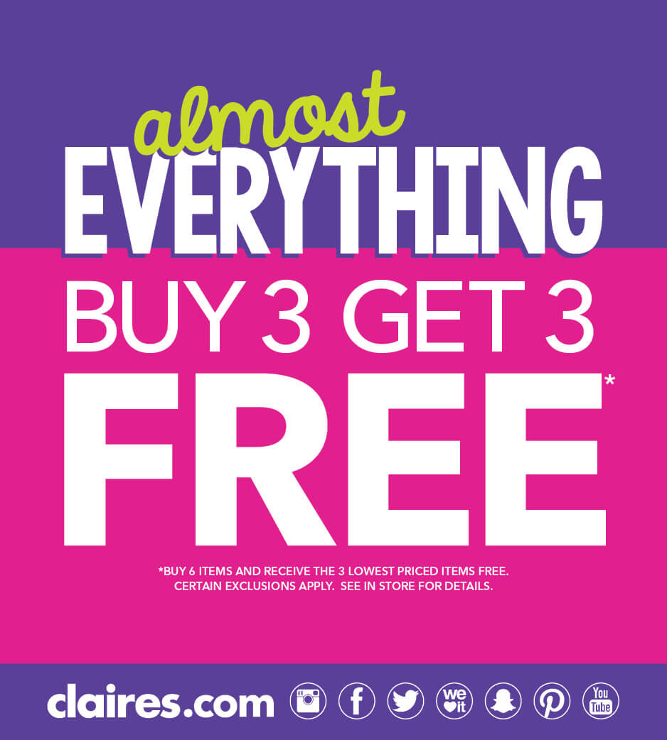 Almost everything Buy 3 Get 3 Free poster