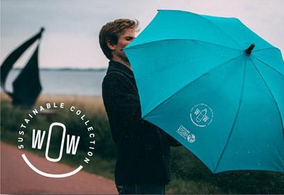 Sateenvarjo kierrätysmateriaalista