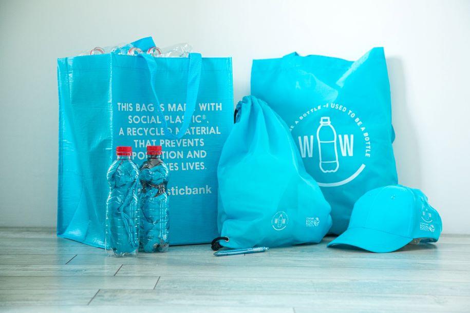 Lippikset kierrätysmateriaalista