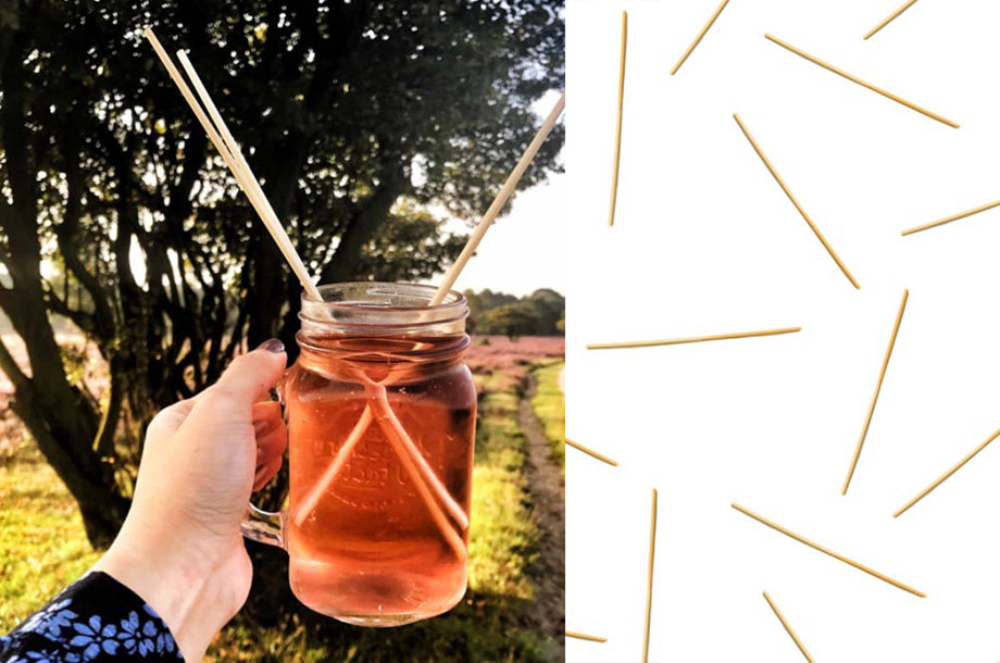 Bambukuituiset juomapillit