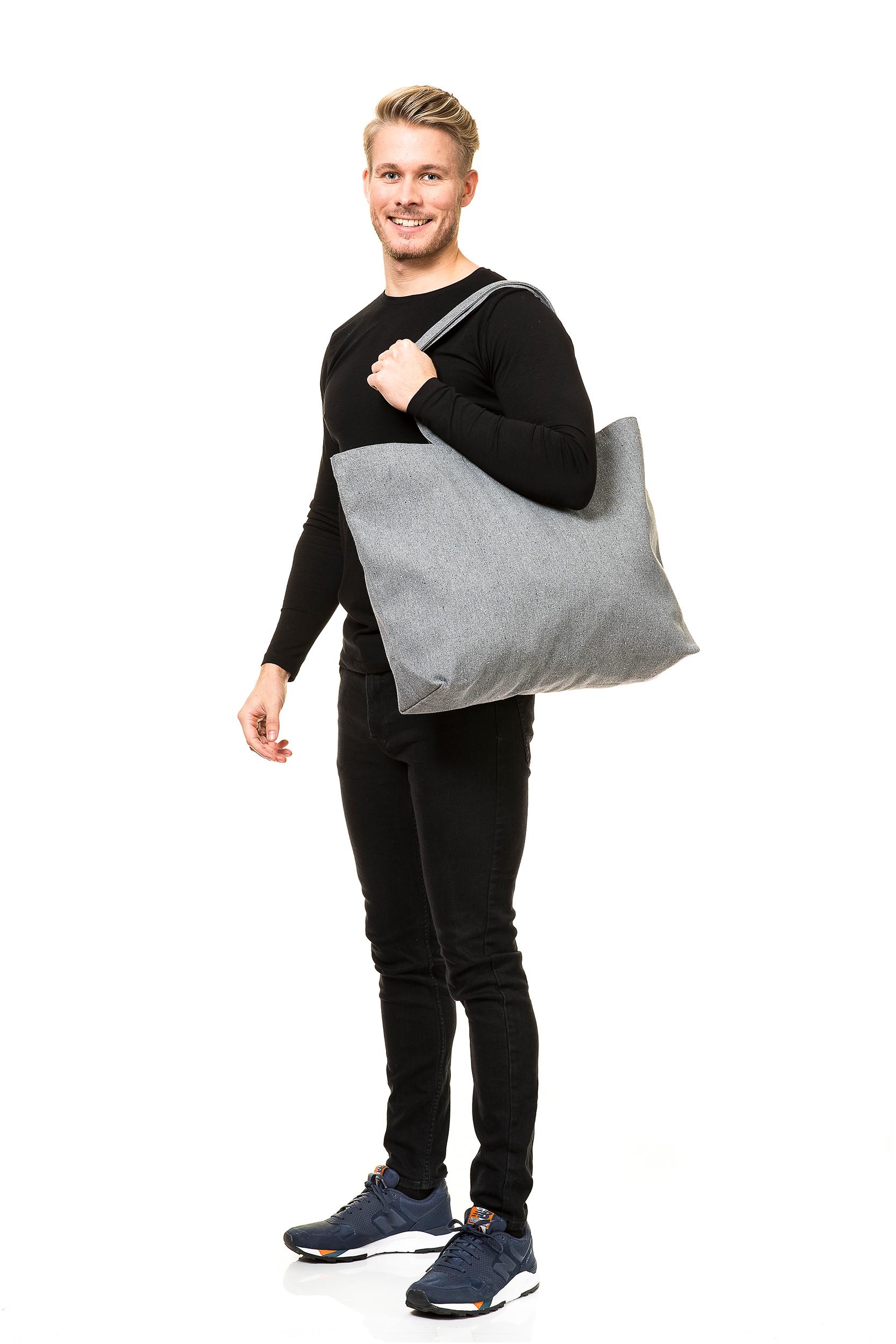 Puuvillakassit kierrätysmateriaalista