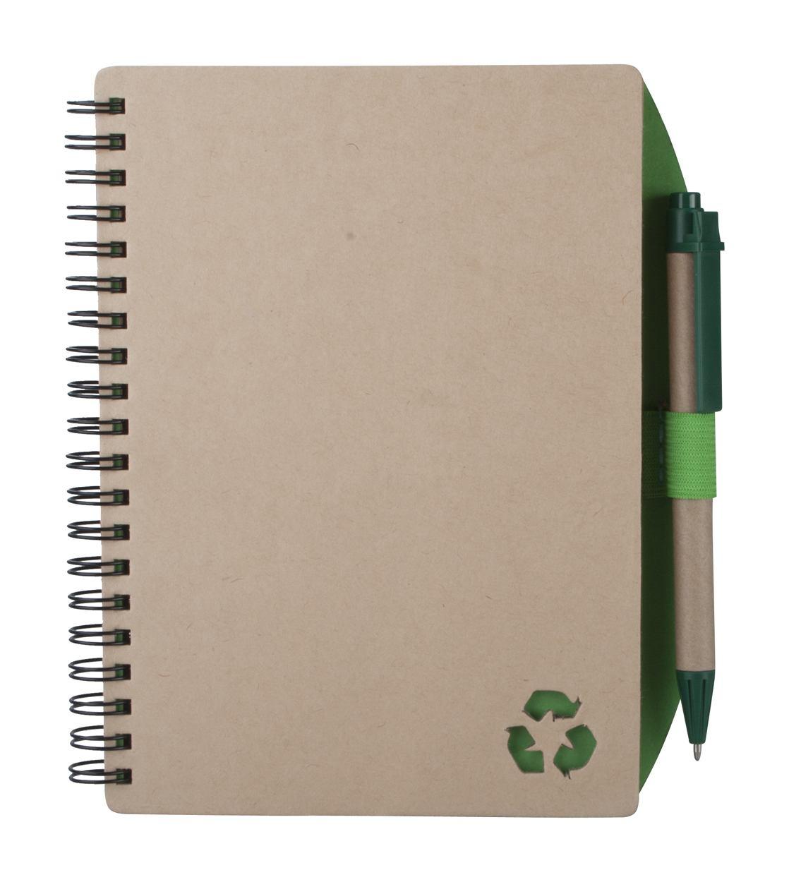 Muistikirjat kierrätysmateriaalista