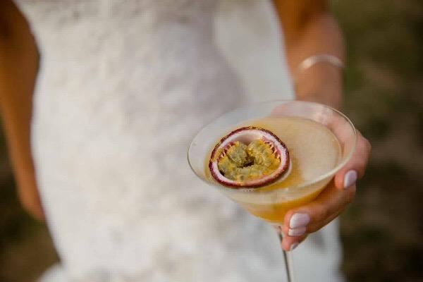 bride holding pornstar martini
