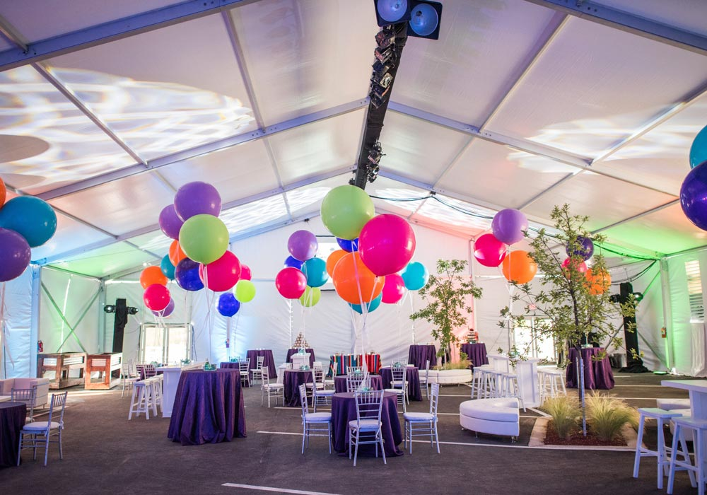 Tent Balloons & Tables