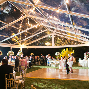 Transparent Frame Tent Wedding