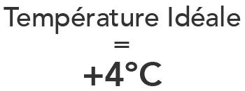 Illustration temperature ideale frigo