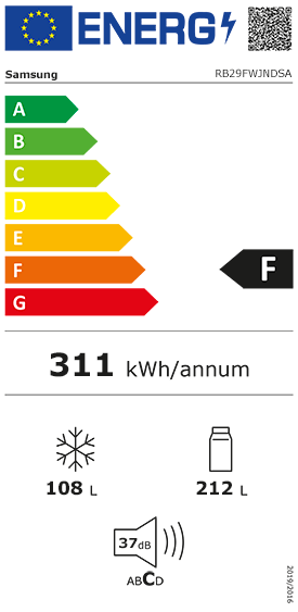 Etiquette Energie Samsung RB29FWJNDSA